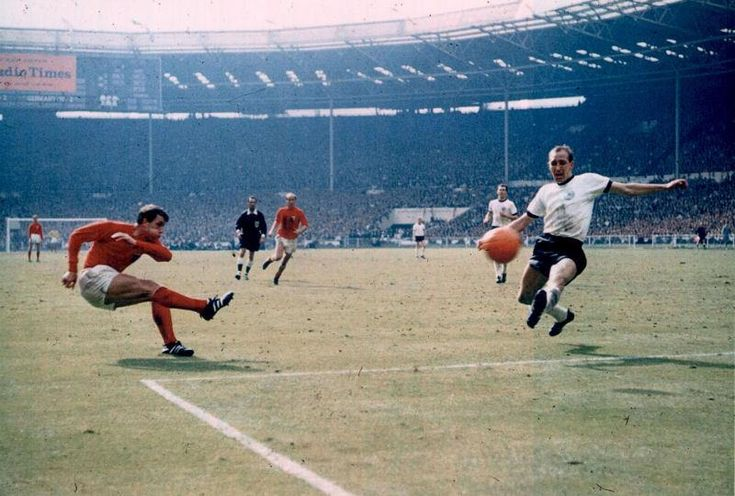 THAT goal by West Ham's Geoff Hurst in the 1966 World Cup final. It WAS a goal... because the referee said so!