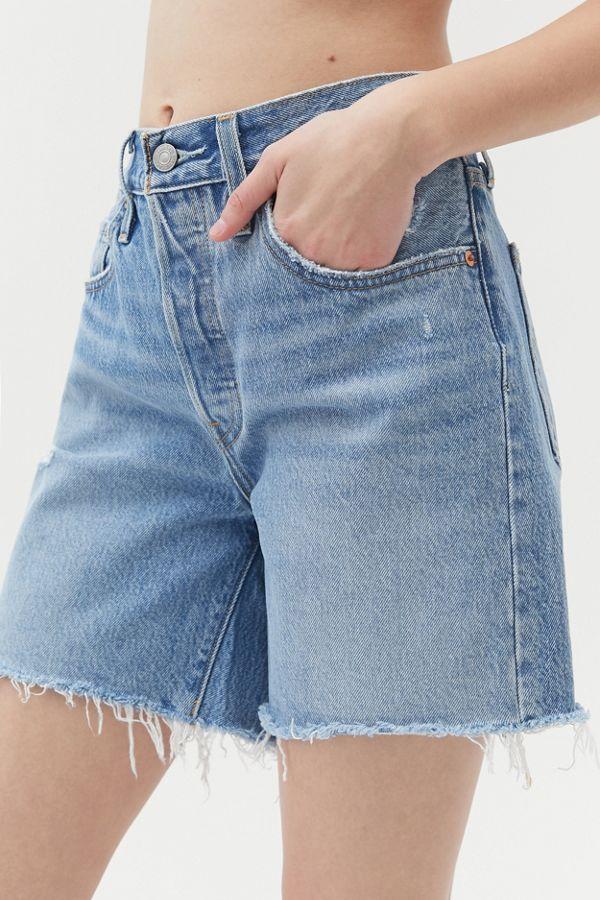 Levi S 501 Longline Short Luxor Street In 2020 Vintage Levi Shorts Denim Shorts Women Jeans For Short Women