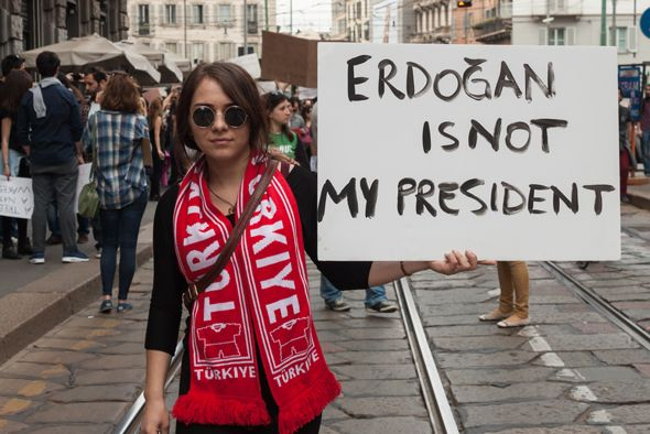 Turkey's President Says Women Should Stick to Making Babies - Truthdig--Speaking to a conference on women and justice Sunday, possibly having teleported from the 1930s, Turkish President Recep Tayyip Erdogan said women are simply not equal to men.