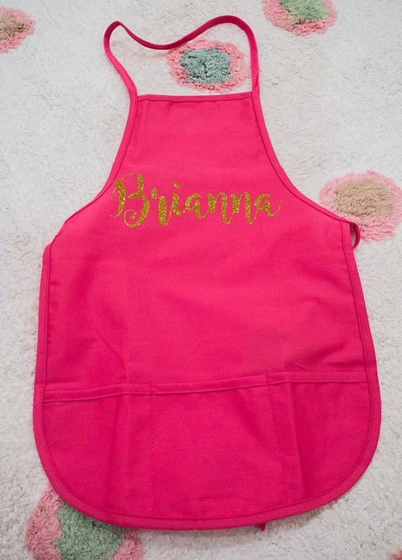 Kids apron personalized apron craft apron kids painting apron
