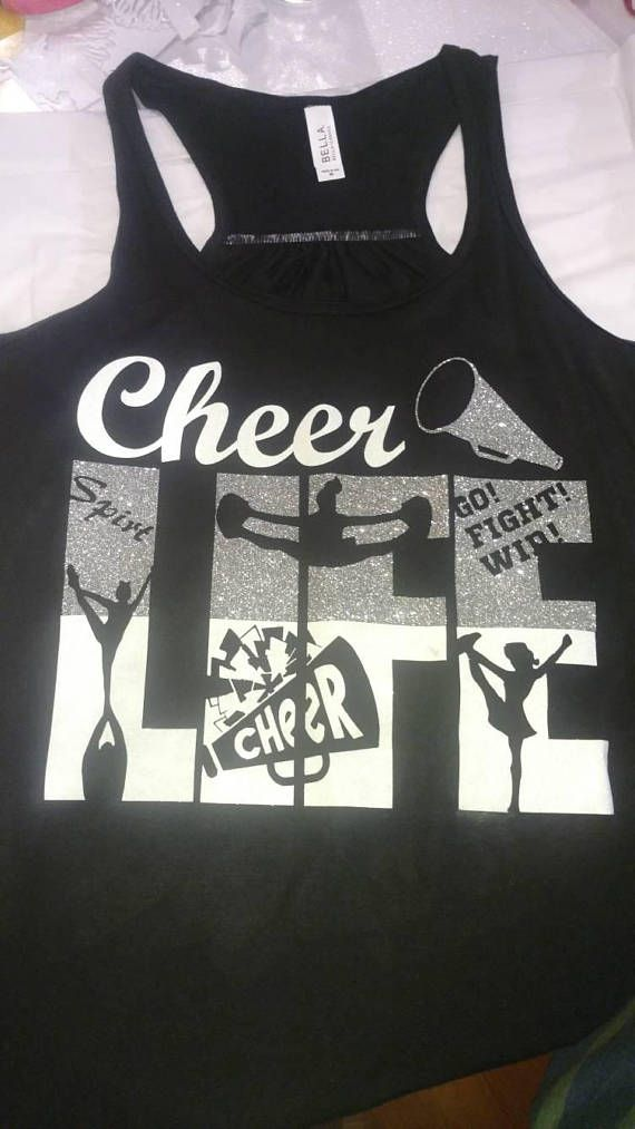 $24. Cheerlife tank - cheerleading gifts - gifts for cheer coach - game day shirt - cheerleading gift - cheer mom - cheerleader shirt - cheer #cheerleading #ad
