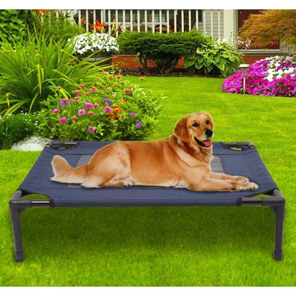 La cama para mascotas es perfecta dormir en interiores o al aire libre, tiene una estructura de metal y superficie de tejido Oxford muy resistente y cómoda. Envio GRATIS 24/48h