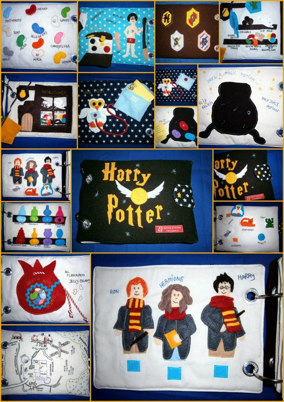 Harry Potter /Quiet book/busy book/ fanart/handmade/geekeryunique