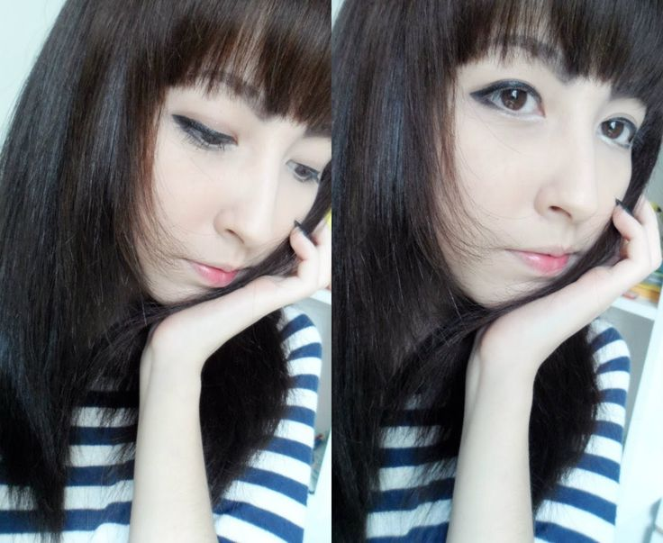 Tutorial: ulzzang makeup without circle lens and wig/ maquiagem ulzzang ...