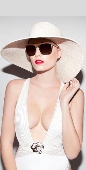 Gottex 2013 Nauru Cream and Gold Hat - Hats - Accessories #hat #2013 #summer southbeachswimsuits.com