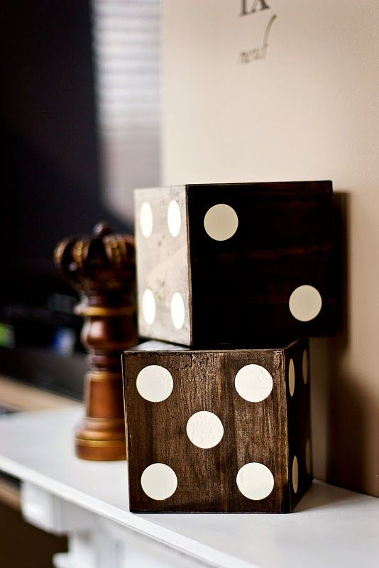 game room design ideas 77. modren ideas game room dice decor  stained with cream paint dots also could do  oversized chess pieces for room design ideas 77