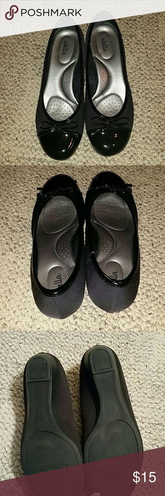 Office Cecilia Toe Cap Ballerina Flats Nude Black Leather