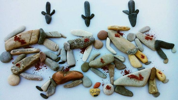 Stones showing dead people