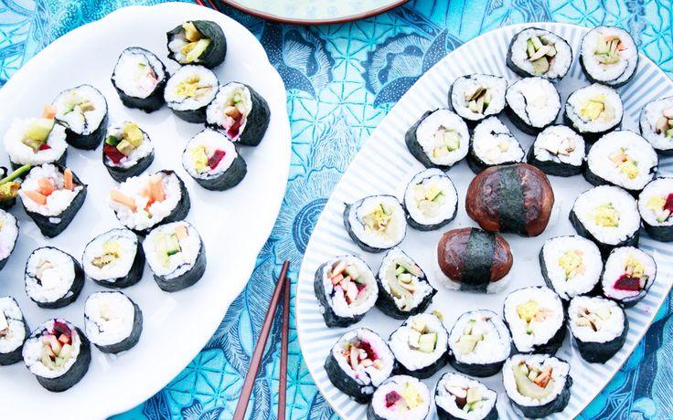 Raffiniertes veganes Sushi