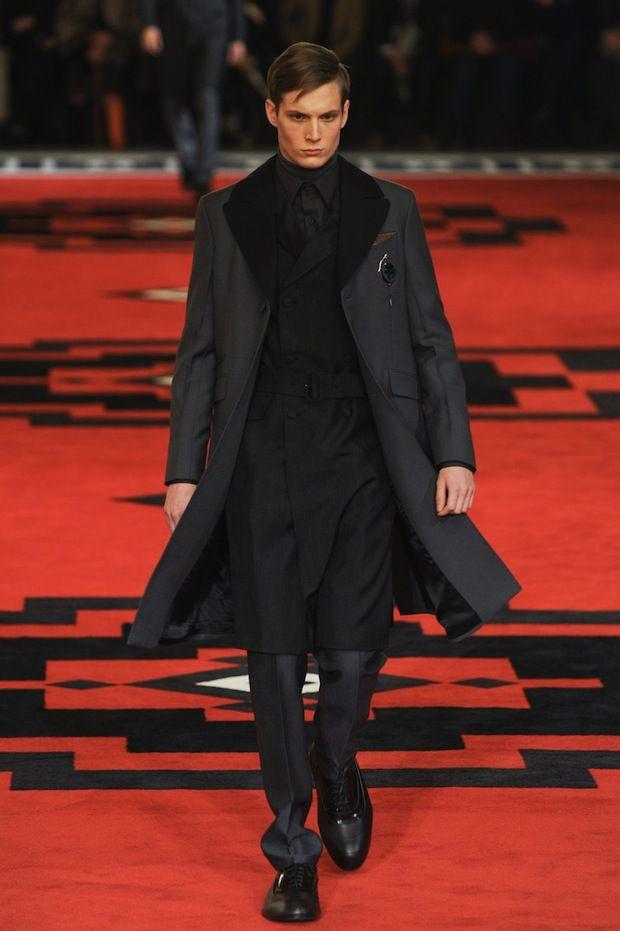 Prada goes Steampunk Fall/Winter men's fashion line, 2012-2013. Late Victorian / Early Edwardian Steampunk-inspired