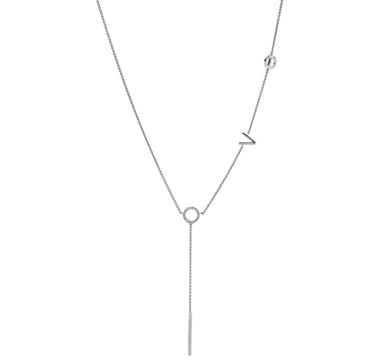 Sterling Silver & Diamond Love Necklace