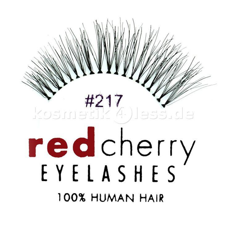 Red Cherry - Falsche Wimpern Nr. 217 Trace - Echthaar - Kosmetik & Falsche Wimpern