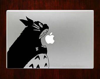 Totoro morder Apple Macbook etiqueta etiquetas engomadas de la Mac Pro / Air / Retina tamaños 13 / 15 / 17 cubierta del ordenador portátil