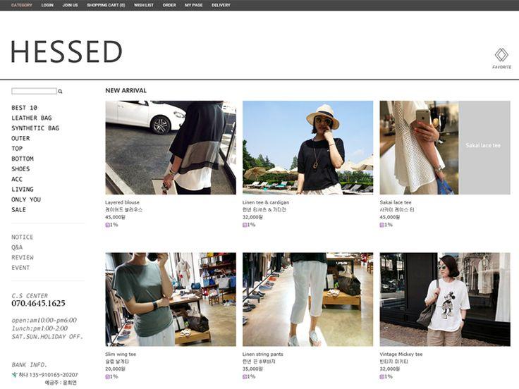쇼핑몰 이름 헤세드 쇼핑몰 주소 http://www.byhessed.com/ 주력 상품 서래마을 패…