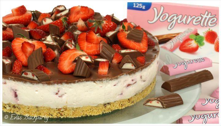 Yogurette-Erdbeer-Torte (Muffin Schokolade)