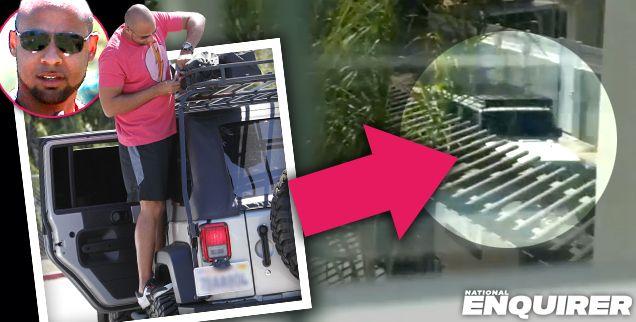 Surveillance Video Shows Jeep Similar To Hank Baskett's | Radar Online