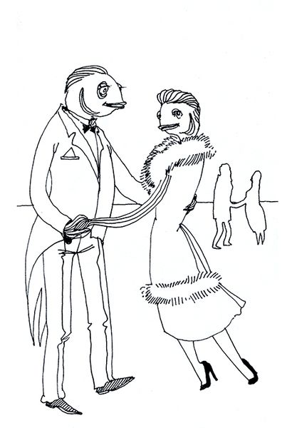 «Рыбное семейство. Танец». Анастасия Дружинская. #helloposter #poster #posters #art #modernart #printart #illustrators #illustration