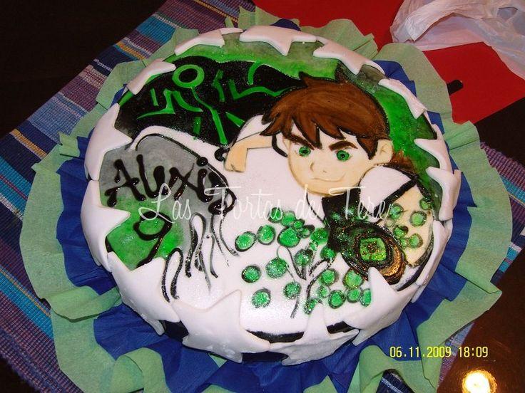Torta pintada a mano, motivo ben 10   Las Tortas de Tere   Pinterest