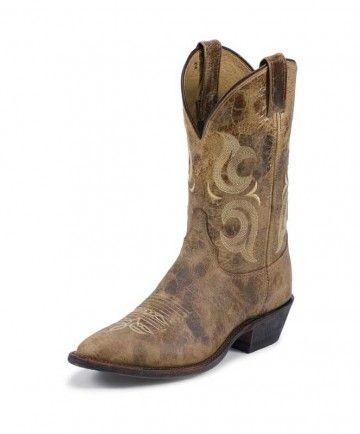 Justin Bent Rail Mens Puma Tan - Western Boots - Footwear