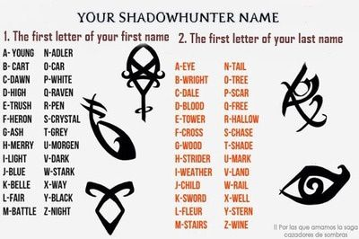 Shadow Hunter Name