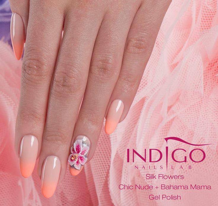 by Paulina Walaszczyk Indigo Nails Lab - Find more Inspiration at www.indigo-nails.com #Nail #Flower #Mani