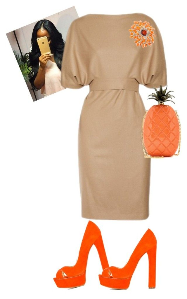 """""""Untitled #651"""" by cogic-fashion on Polyvore featuring Victoria Beckham, Casadei, Valentino and NOVICA"""