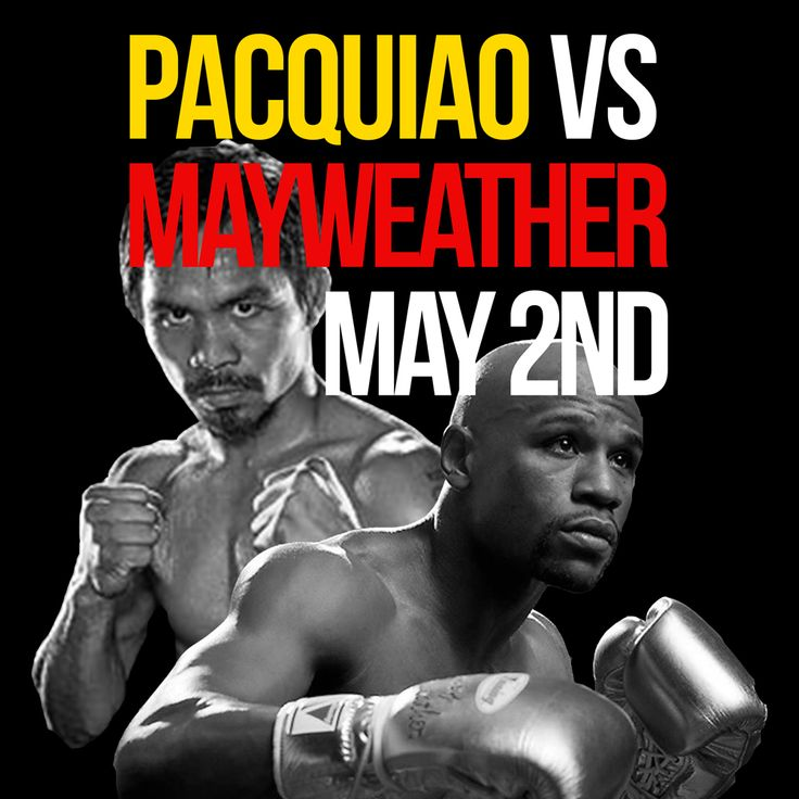 Pacquiao v Mayweather at Joseph Richard Group Public Houses - Floyd Mayweather, Jr. vs. Manny Pacquiao, billed as The Fight of the Century, is an upcoming boxing match between eight-division world champion Manny Pacquiao and undefeated, five-division world champion Floyd Mayweather, Jr.