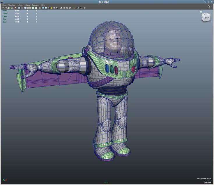 buzz PIXAR wireframe #wireframe #PIXAR #3D #CG