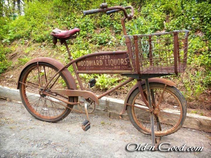 Delivery+Old+Bikes+Pictures | Rusty Liquor Delivery Bike – Woodward Liquors