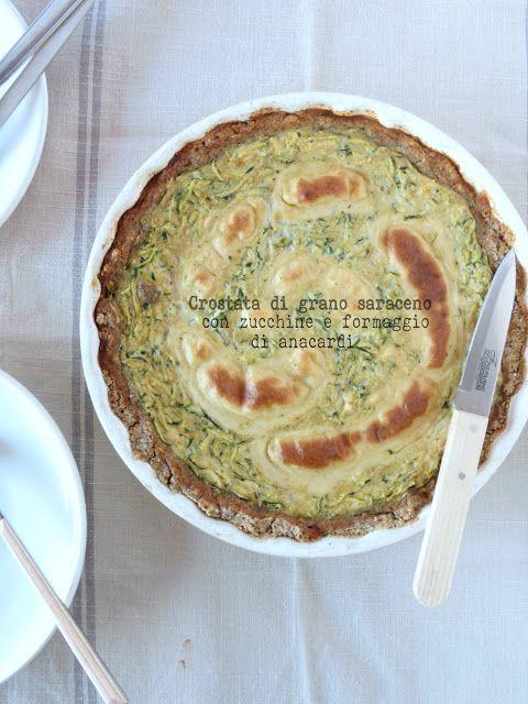 SenzalatteSenzauova: Crostata di grano saraceno, zucchine e formaggio d...