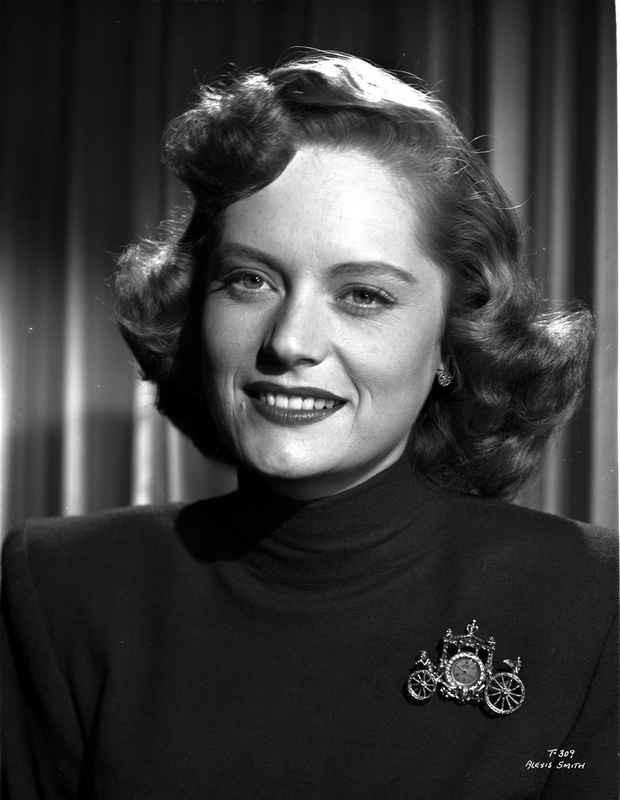 Alexis Smith smiling in Portrait wearing a Black Shirt High Quality Ph – Movie Star News