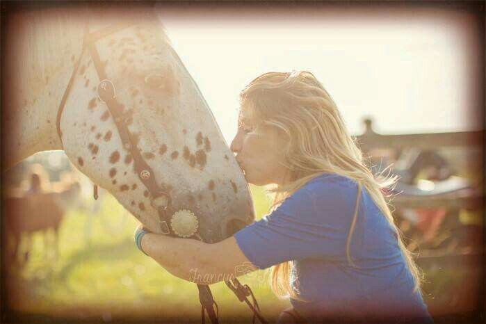 """My daughter, Danielle and our Appaloosa, """"JD"""""""