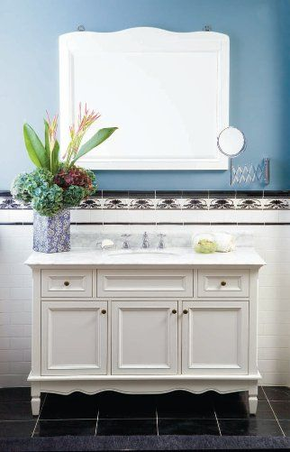Edwardian Tiles Ibis Vanity And Ibis Mirror White