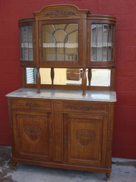 Antique Furniture French Antique Carved Buffet Hutch