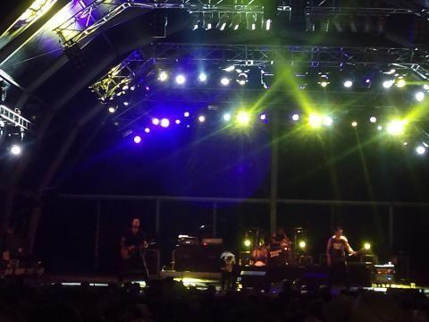 Festival do Crato 2015 Guano Apes em palco.