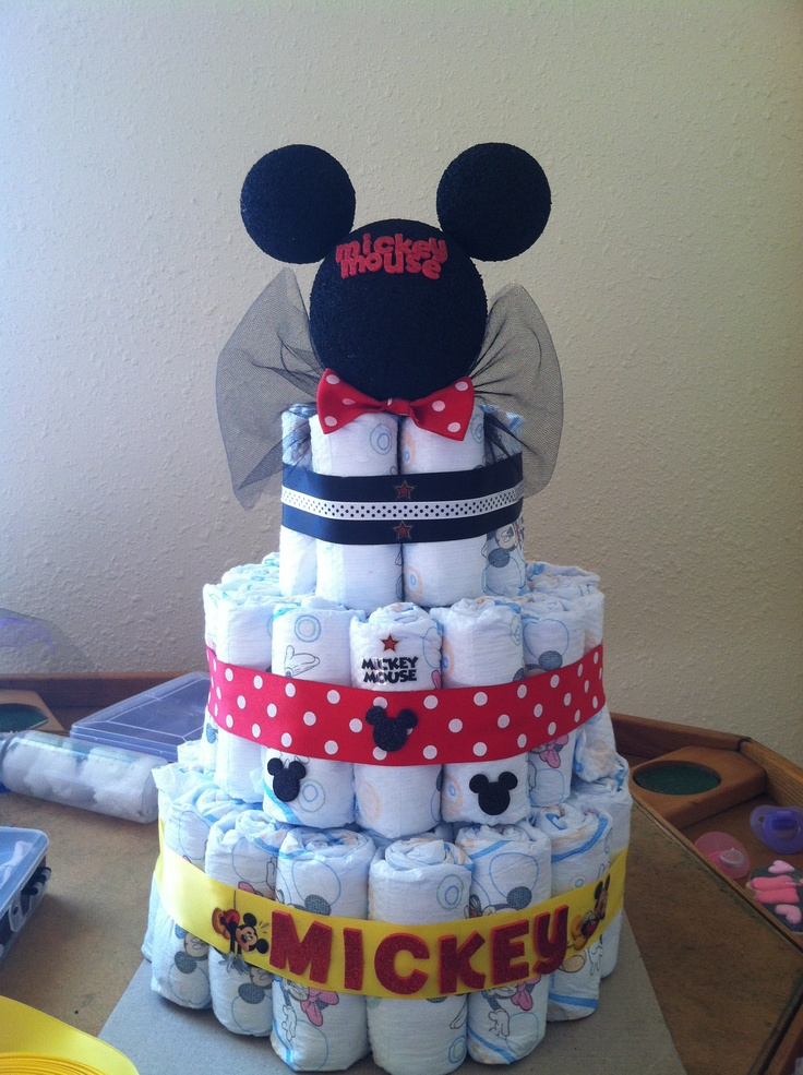 Mickey Mouse Diaper Cake Minnie Mouse Diaper Cakes