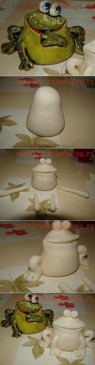 Лягушка из соленого теста
