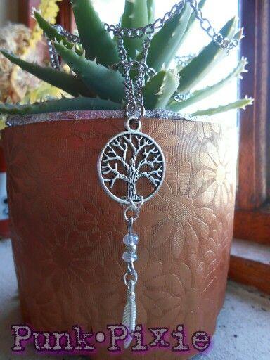 tree of life dreamcatcher pendant by Punk Pixie