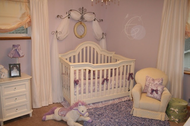 Design Dazzle: European Toile And Lavender Baby Nursery