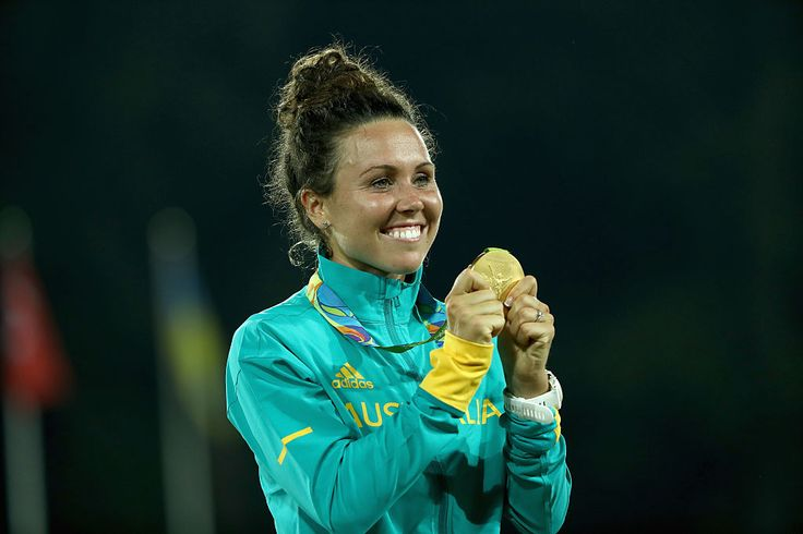 Chloe Esposito has claimed gold in modern pentathlon at the Rio 2016 Games.