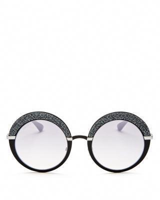 e74db8f690d2 JIMMY CHOO Gotha Glitter Round Sunglasses