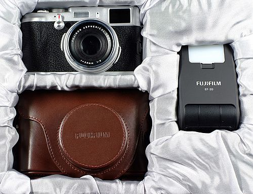 Fuji x100: impossibly retro design, amazing leather case, and - above all - great photographic results.