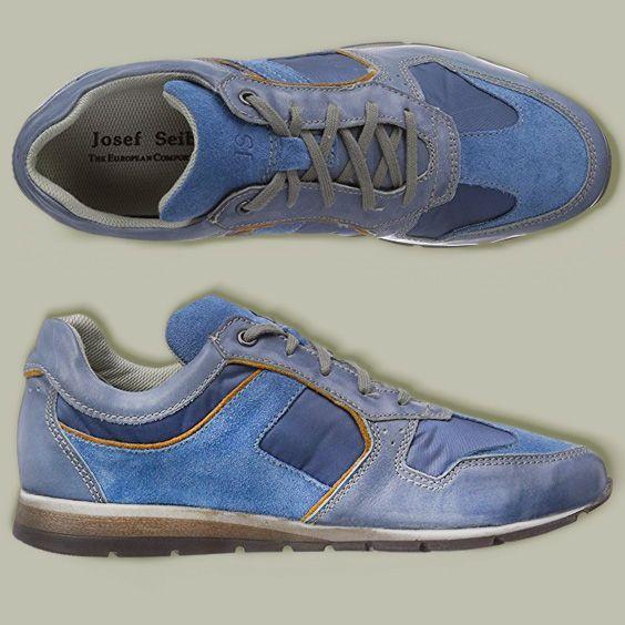 JOSEF SEIBEL Mens Lace-Up, Sneakers, blau, 641072-5