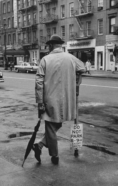 Jacques Tati  New York 1958 Photo: Yale Joel