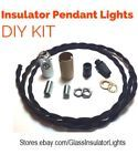 Glass Insulator Pendant Light Kit -DIY Insulator Lighting Kit - Lamp Parts Kit