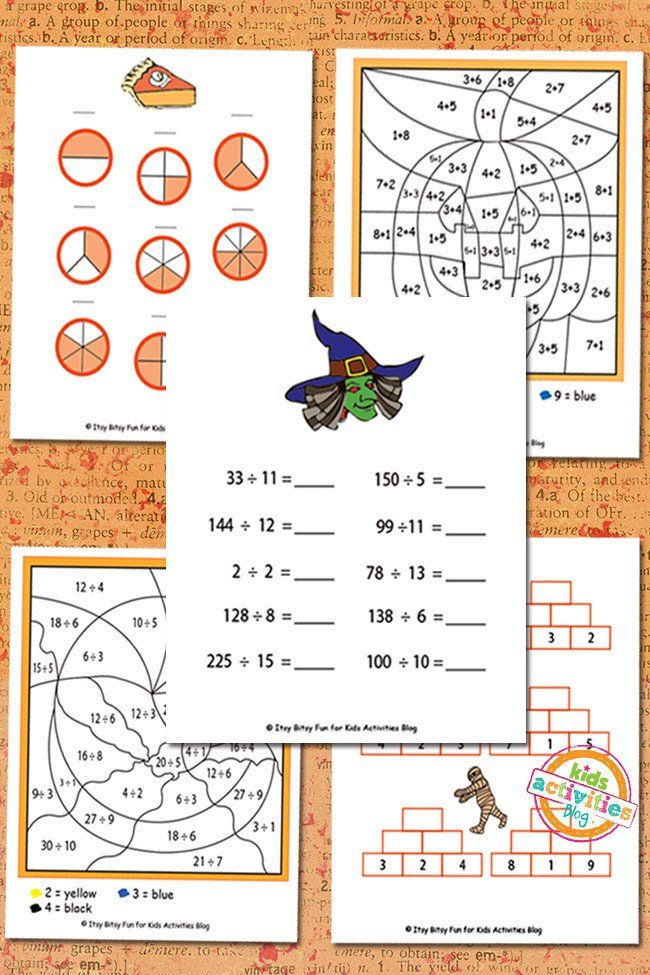 Free second grade halloween math worksheets