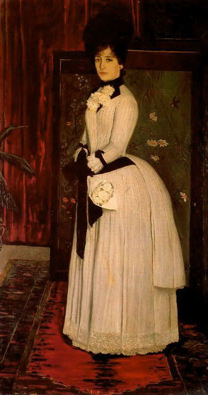 Retrato de Luisa Denís. 1886 by Santiago Rusiñol Prats (Spanish 1861 - 1931)