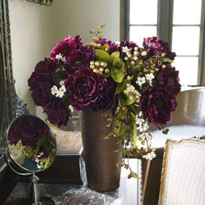 Purple/Green Floral Arrangement in Copper Container: Purple Green Floral, Color Combos, Arrangements Idea, Purplegreen Floral, Purple Rooms, Diy'S Centerpieces, Fall Weddings, Purple Flower Arrangements, Floral Arrangements