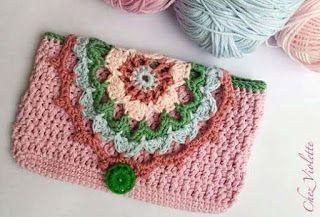 Cartucheras a Crochet terminada   http://www.kangutingo.com/2016/07/cartucheras-crochet.html