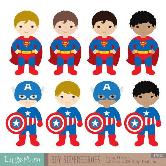 Boys Superhero Costumes Clipart 1 Boy Superheroes